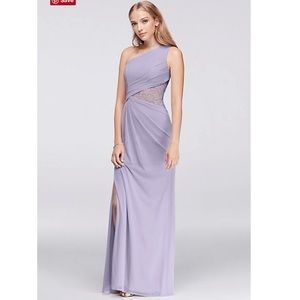 Lavender (Iris) Long Bridesmaids Dress